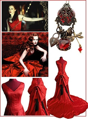 The Moulin Rouge dress; friggen; love this <3 would be a lovely wedding dress design