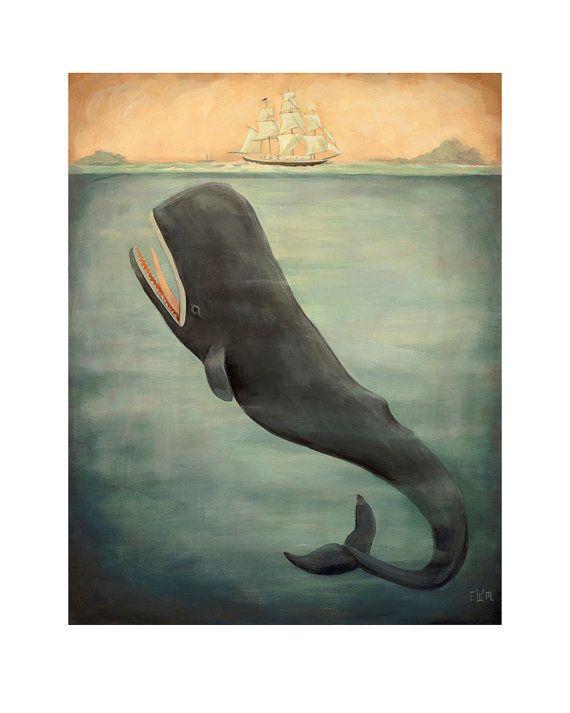 Leviatán debajo de impresión 8 x 10 por theblackapple en Etsy, $16.00