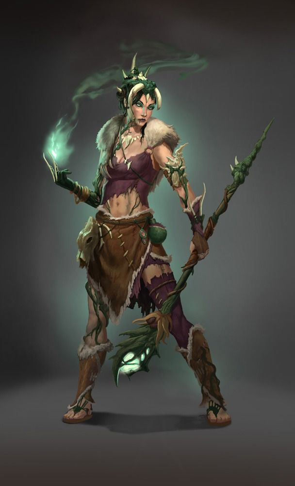 """Witch Concept, """"The Legend of Dead Kel"""" Picture  (2d, fantasy, concept art, witch, character, shaman)"""