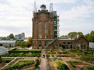 The Villa Augustus in the Netherlands, old water tower converted into a hotel!! Most amazing gardens ever