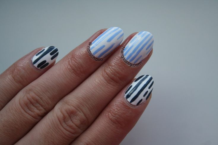 Monday Blues Means Easy Nail Art
