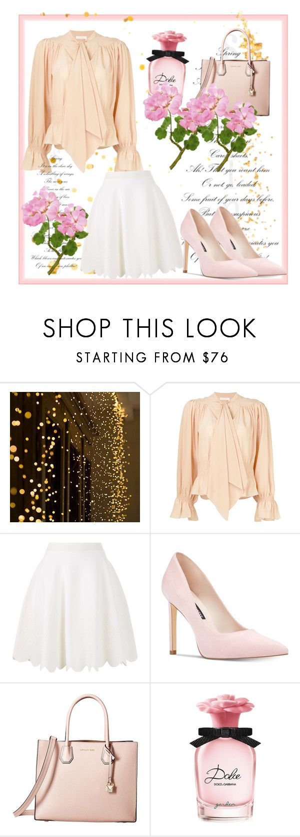 """""""Untitled #90"""" by husicfahreta ❤ liked on Polyvore featuring Chloé, Alexander McQueen, Nine West, MICHAEL Michael Kors and Dolce&Gabbana"""