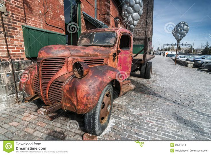 Old Rusty Truck At Distillery District Toronto - Download From Over 30 Million High Quality Stock Photos, Images, Vectors. Sign up for FREE today. Image: 38891744