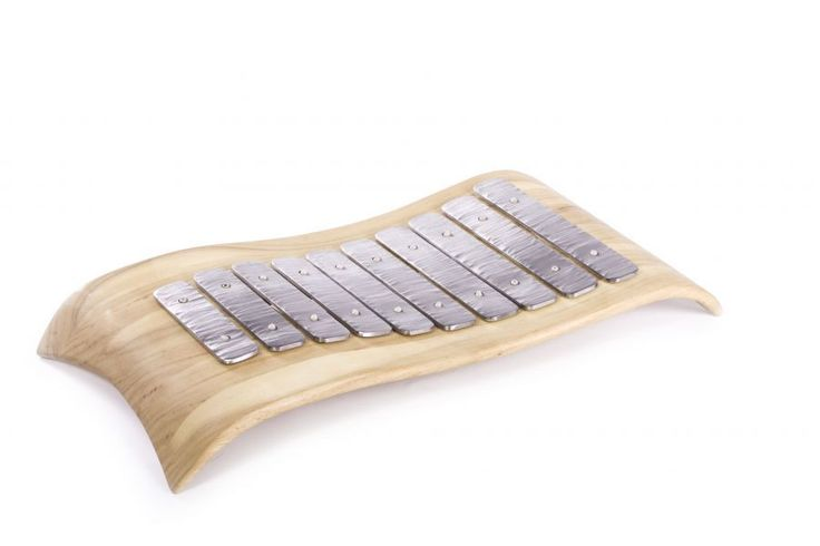 Metalofon z ušlechtilé oceli - Ateliér Tilia - umělecké dřevořezby, muzikoterapeutické nástroje, metalofony, litofony, lyry, nábytek, dřevěné rámy a doplňky