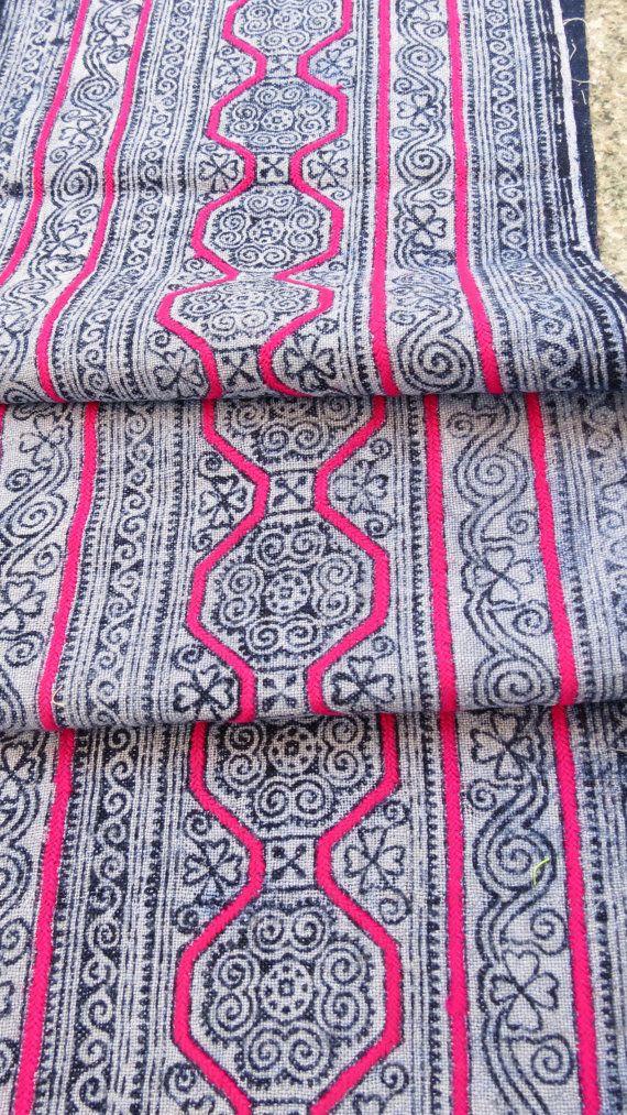 Handwoven Indigo hemp Hmong  Vintage textiles and by dellshop, $129.99