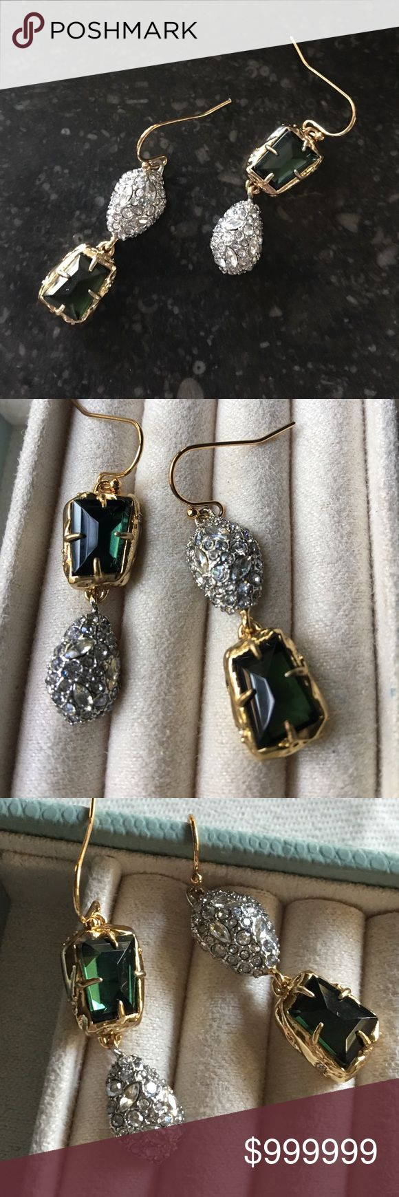 🔥SALE Alexis Bittar Green Amethyst Earrings Alexis Bittar Mismatched Green Amethyst & Crystal Earrings • New without tags • No flaws • Pave Swarovski Crystals in Gold. Mismatched design makes a beautiful statement. Check out my other Alexis Bittar items. Bundle & Save! Alexis Bittar Jewelry Earrings