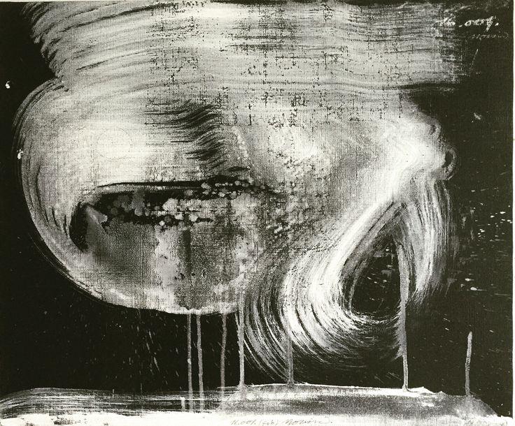 Björn Molin, 16.001. (feb).  55 x 46 cm, mixed media on canvas.
