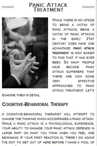 LEARN TO CONTROL PANIC AND GET RELIEF FROM ANXIETY<p>Self-Help for Panic Disorder<p>The info in this app assumes that the user is suffering from panic attacks due to Panic Disorder. It may not be applicable to other forms of anxiety. It focuses on the fear of having a panic attack and the fear of the sensations when having a panic.<p>Learn how to stop panic attacks. Understand the causes, symptoms and treatment on how to cure and overcome panic disorder and general…