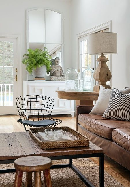 Love the natural feel of the wood and white