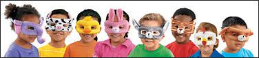 Kids go wild for our adorable animal masks! Each soft, plush mask features a padded design that's extra-comfy to wear…plus a fabric-covered ...