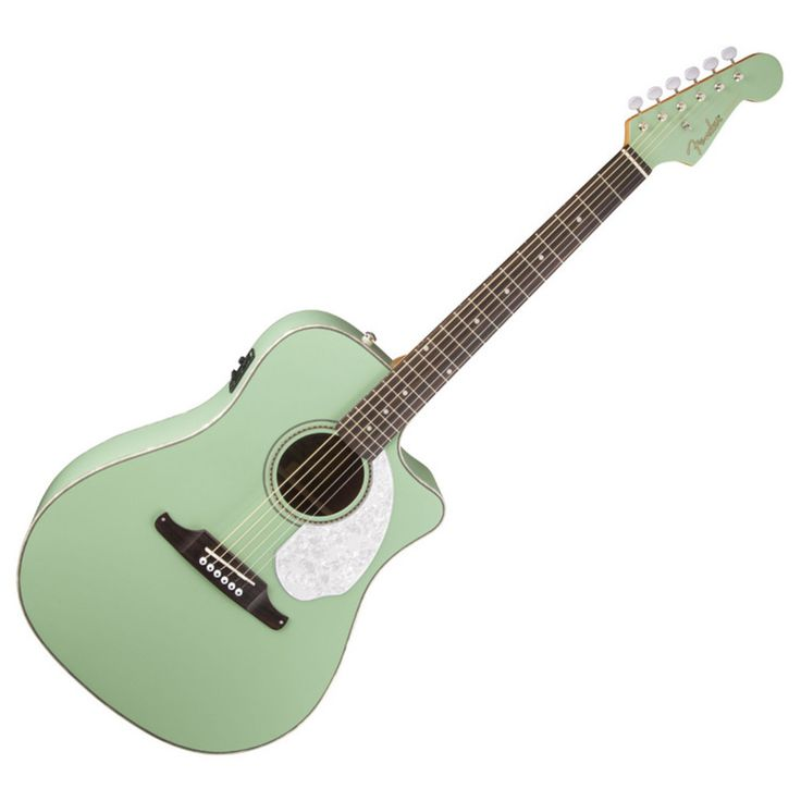 Fender Sonoran SCE Electro Acoustic Guitar, RW, Surf Green at Gear4music.com
