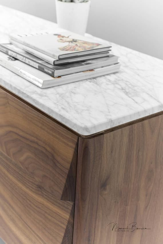 Sideboard Cupboard Credenza In Solid Board Oak Walnut And Marble Top Sideboard Marble Marble Top Sideboard Sideboard