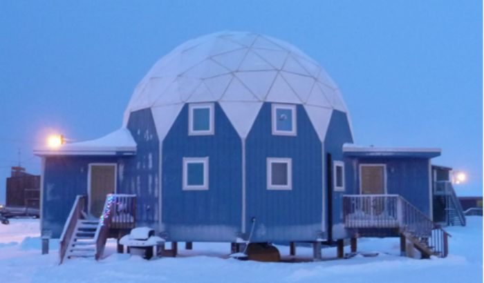 Arctic circle dome home energy efficient affordable for Cheap efficient homes