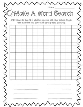 FREE made this to keep copies with me as a supply teacher for those early finishers, or if they activities left take less time than anticipated.