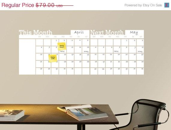 Hey, I found this really awesome Etsy listing at https://www.etsy.com/listing/185919040/dry-erase-calendar-dry-erase-wall