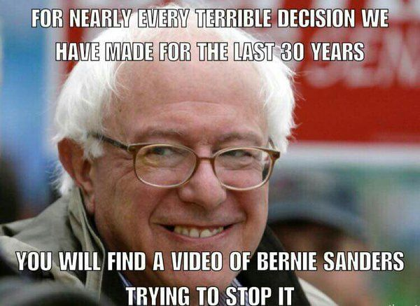 Bernie has an excellent record. He does the right thing, even when it's not the popular thing.