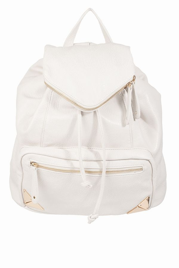 Accents Tipped In Gold Backpack