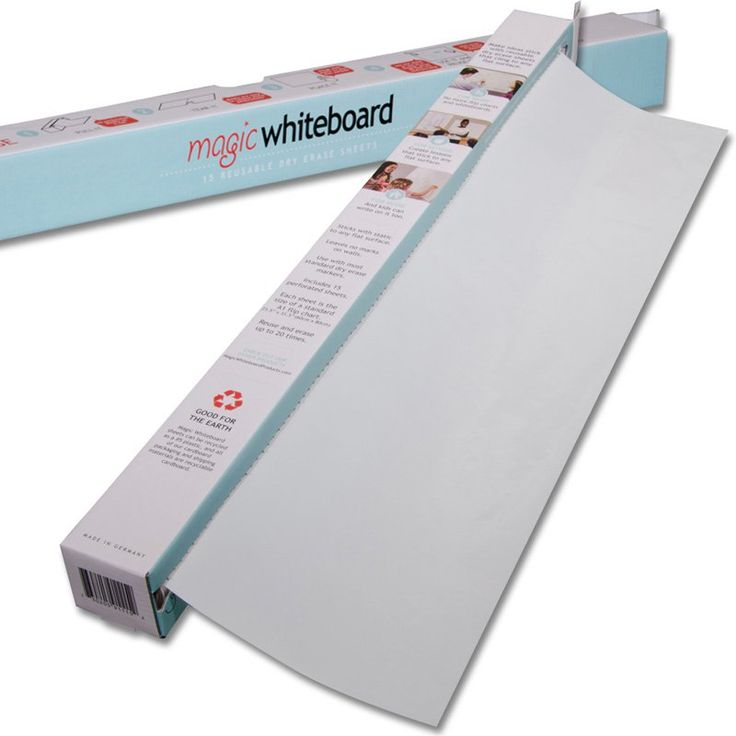 Magic Whiteboard 37 Feet of Whiteboard on a Roll - 15 Dry Erase Sheets - MW1115