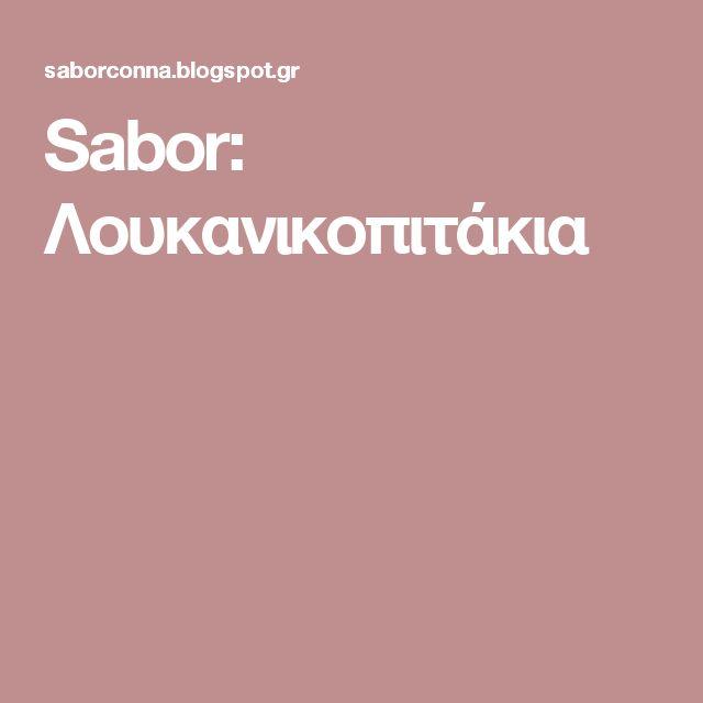 Sabor: Λουκανικοπιτάκια