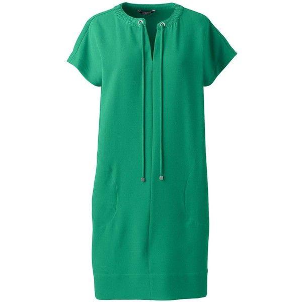 Long sleeve green t shirt dress