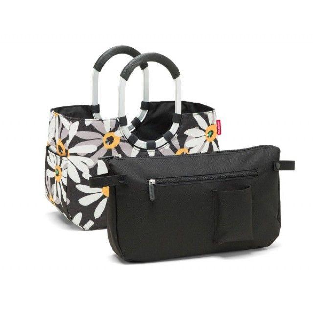 Reisenthel Loopshopper Shopping Bag 12L with Inner Bag, in Margarite Daisy