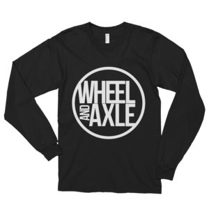 long sleeve big logo wheel and axle clothing line brand wheelchair sports