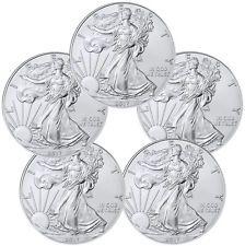 [$101.15 save 15%] 2017 1 Troy oz. American Silver Eagle - Lot of 5 Coins SKU44363 #LavaHot http://www.lavahotdeals.com/us/cheap/2017-1-troy-oz-american-silver-eagle-lot/216248?utm_source=pinterest&utm_medium=rss&utm_campaign=at_lavahotdealsus