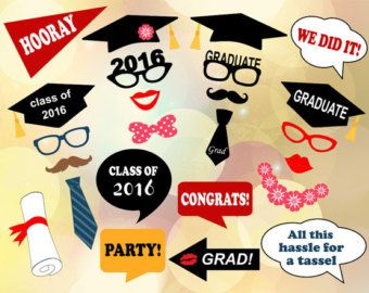 Medical Nursing Graduation Photo Booth Props by PrintablePropShop