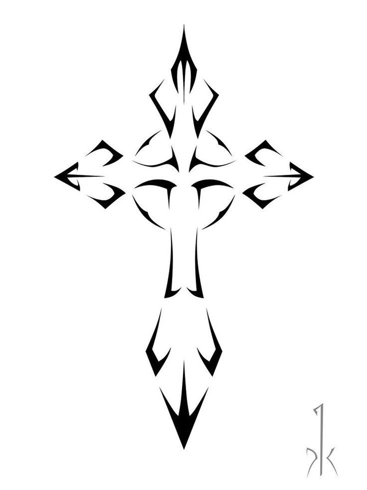 Tribal Cross Tattoo Sample | Tattoobite.com