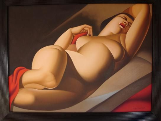 Fat Lady Oil Painting - Made in Thailand