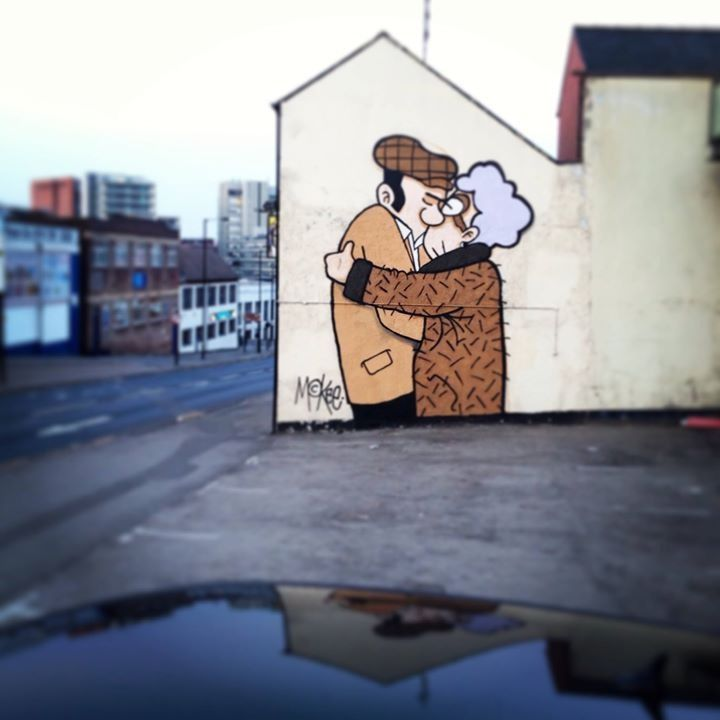 The Snog (artwork by @ Pete McKee, photo by @ leonlockley on IG) #socialsheffield #sheffield Sheffield