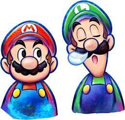 Mario Luigi Dream Team 3ds Artwork Mario And Luigi Luigi Super Mario Art