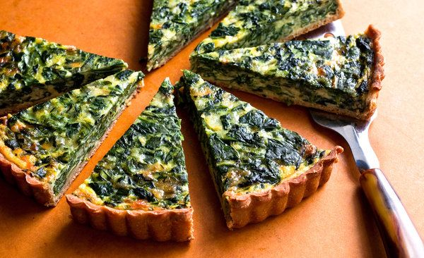 Spinach and Onion TartOlive Oil, Quiches, Tarts Recipe, Onions Tarts, Bacon, Spinach, Eggs Cups, New York Time, Crusts