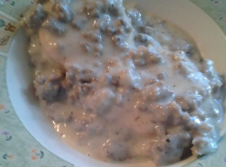 Southern Sausage Gravy and Biscuits