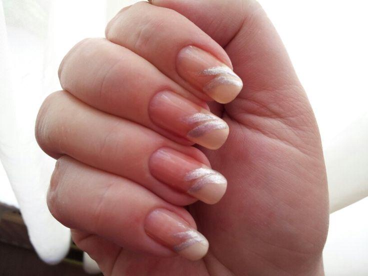 Lovely ♥ Frans manicure zilver