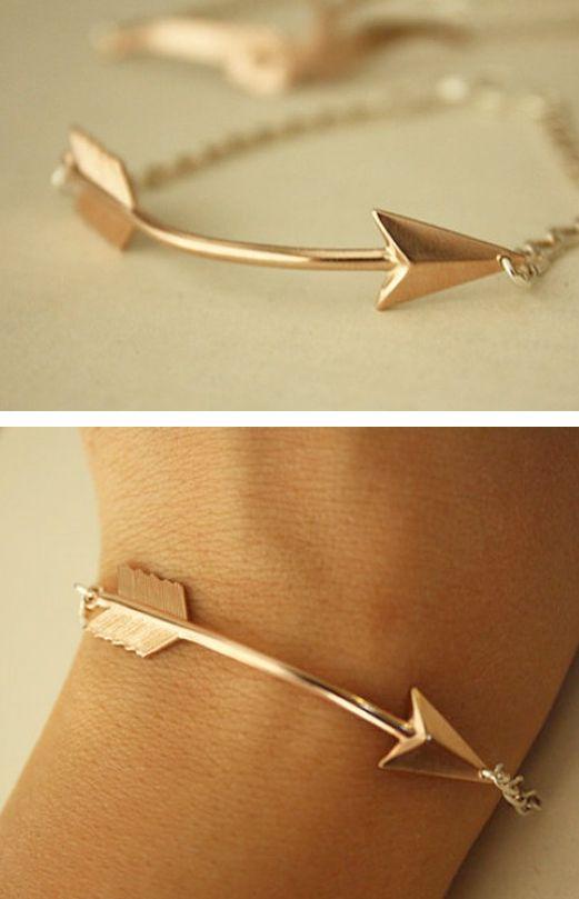 Rose Gold Arrow Bracelet