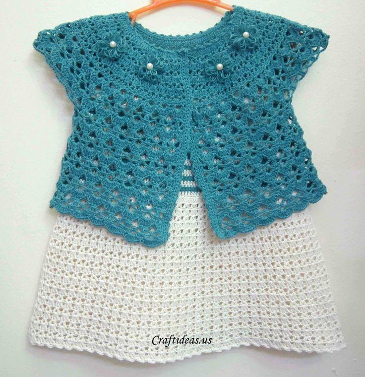Crochet spring jacket Tutorial - ❁•Teresa Restegui http://www.pinterest.com/teretegui/•❁