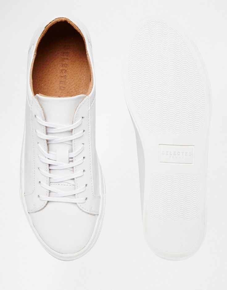 Image 3 of Selected Femme Donna White Leather Sneakers
