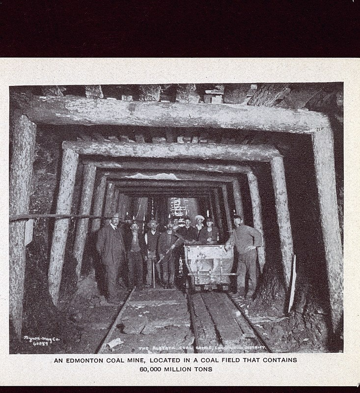 One of hundreds of mines.  Image Courtesy of Vintage Edmonton   https://www.facebook.com/TheVintageEdmonton