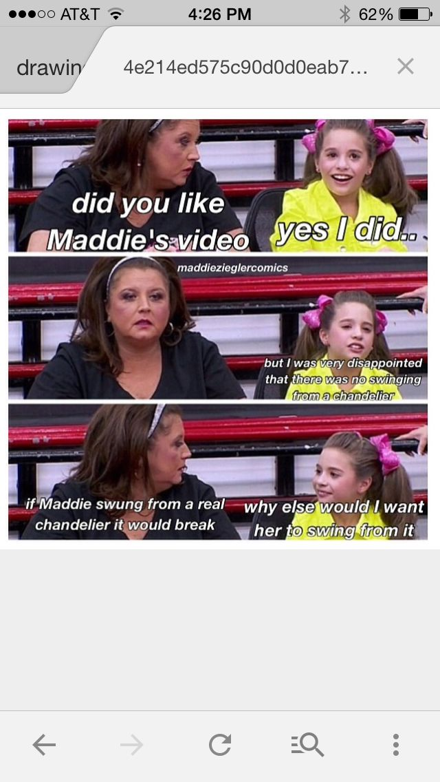 Mackenzie's relationship with Maddie... Abby is a devil but am strangely addicted to this show...