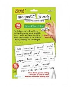 Magnetic Words School Years 3& 4 $15.95 #sweetcreations #education #family #organisation #learning #charts