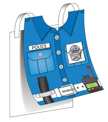 1000 images about police on pinterest coloring police for Police badge template for preschool
