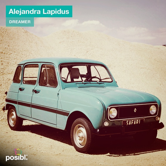 """Hi Dreamers! All dreams are special. Today we introduce you the dream of Alejandra Lapidus: """"I want to drive a Renault 4S"""". Let's support her dream! http://www.posibl.com/dreamer/KsfTqiWCu67GT-U20dFQytQbC8WK_AS4EwEif6WnfMU"""