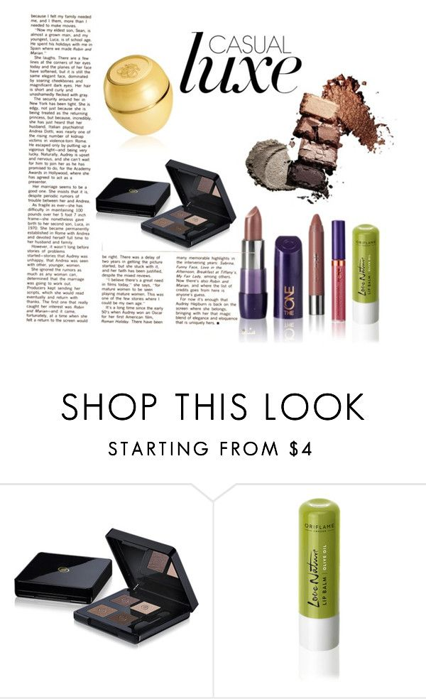 """""""Oriflame In Brown"""" by barbarabetty on Polyvore featuring beleza"""