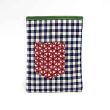 NATI CON LA CAMICIA Porta iPad in tessuto e pelle iPad Case MADE IN ITALY Cotone