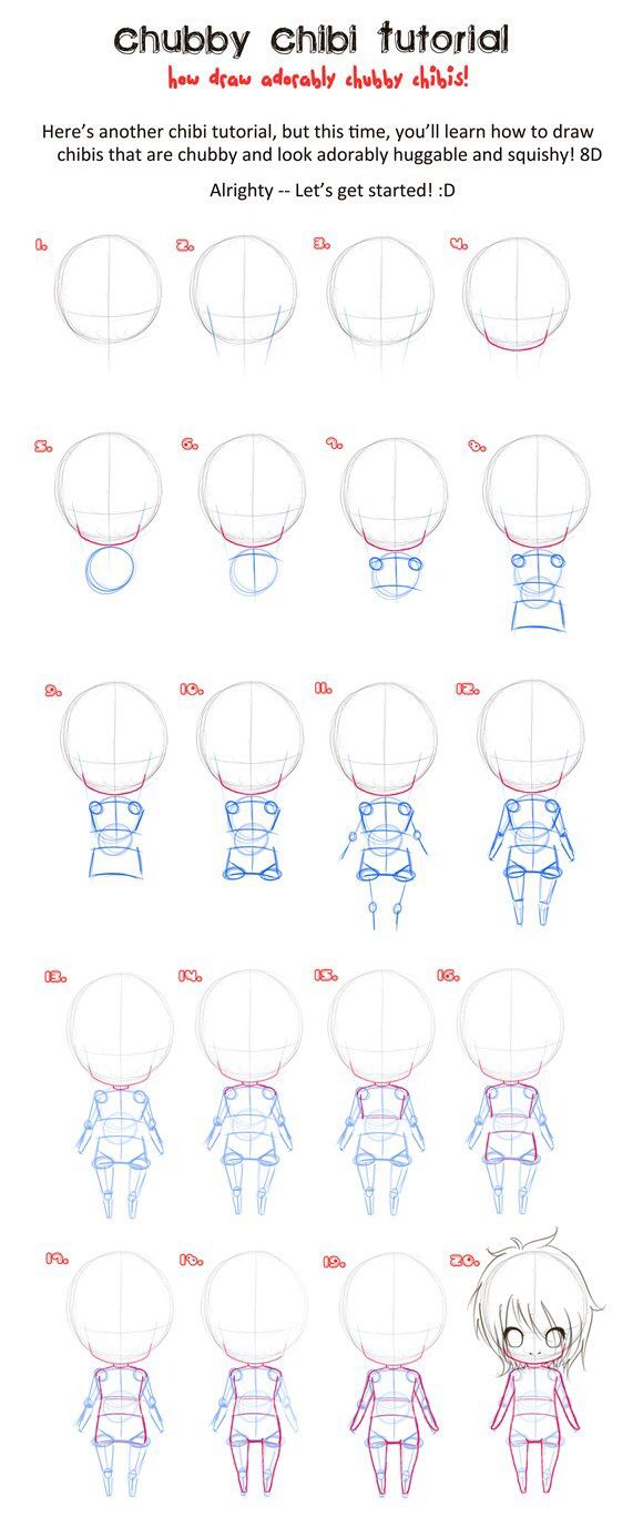 how to draw chibi examples