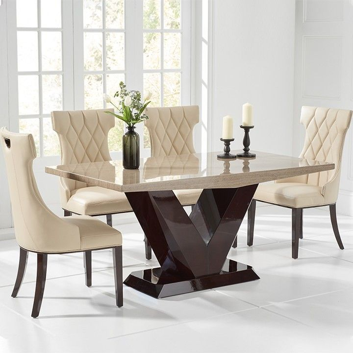 Coming Soon Valencie Brown Marble Dining Table Set Furniture Home Homedecor Interiordesign Dining Table Marble Marble Dining Dining Table Design Modern