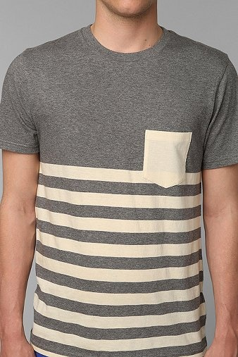 BDG Engineered Stripe Pocket Crew