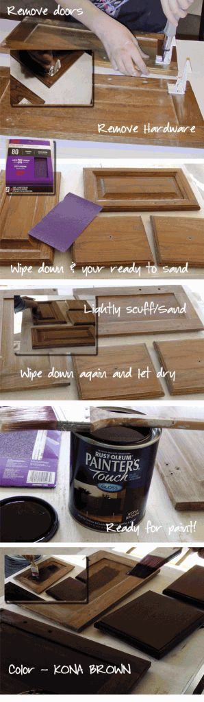 Vanity redo-- I guess you don't need to strip the stain off if you are painting over.
