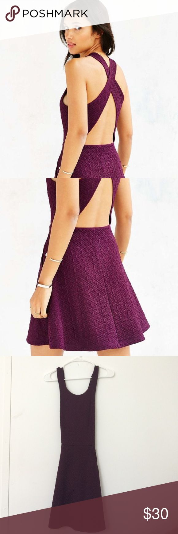 Purple backless skater dress Super cute backless purple skater dress. Flattering for all body types. Awesome for any night out! Never worn. Dresses Mini